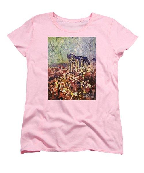 Fields Of Flower- And Roman Temple Women's T-Shirt (Standard Cut)