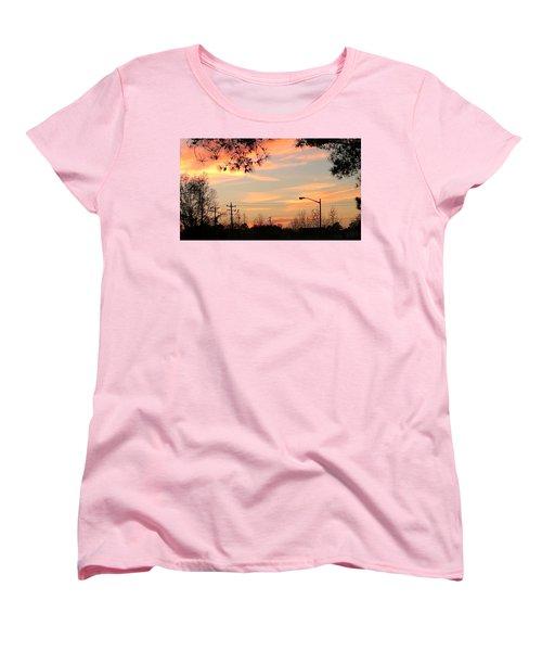 Fire Sky Women's T-Shirt (Standard Cut) by Thomasina Durkay