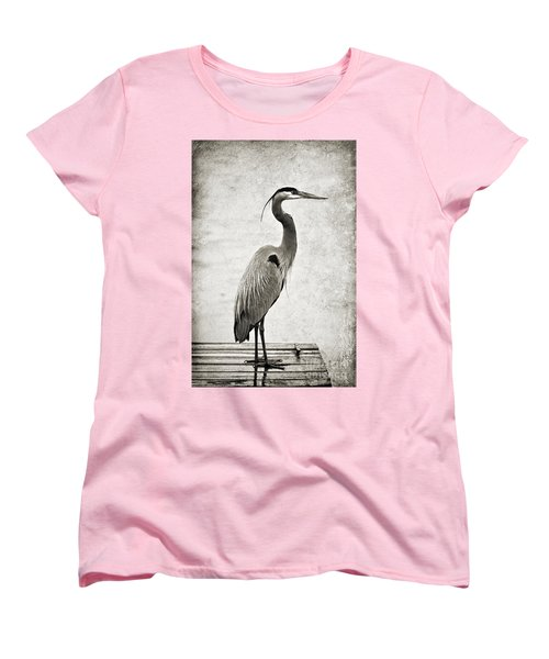 Fishing From The Dock Women's T-Shirt (Standard Cut) by Scott Pellegrin