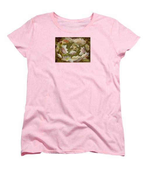 Women's T-Shirt (Standard Cut) featuring the photograph Flower Drift by Nareeta Martin