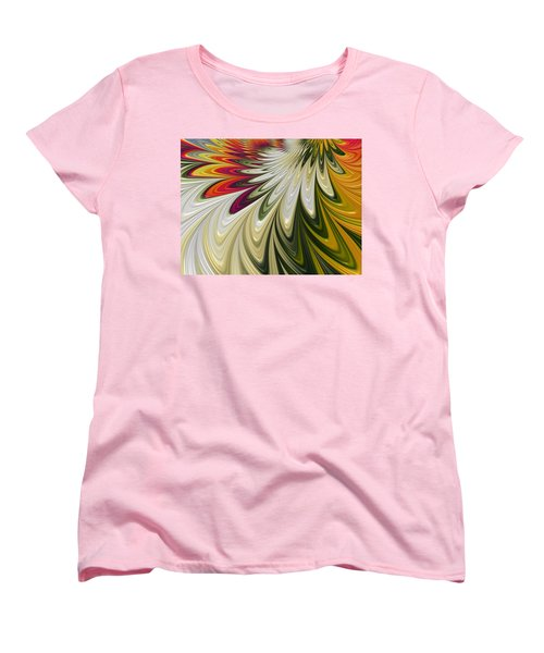 Women's T-Shirt (Standard Cut) featuring the digital art Flower Power by Gabriella Weninger - David