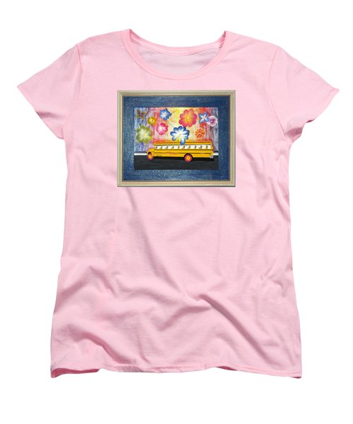 Women's T-Shirt (Standard Cut) featuring the painting Flower Power by Ron Davidson