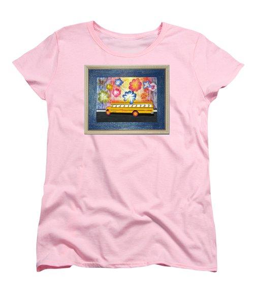 Flower Power Women's T-Shirt (Standard Cut) by Ron Davidson