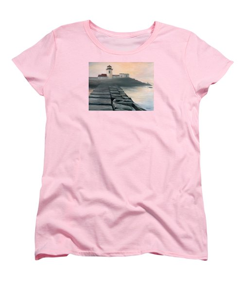 Fog Burning Off Women's T-Shirt (Standard Cut) by Eileen Patten Oliver
