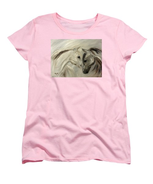 Women's T-Shirt (Standard Cut) featuring the painting Forever Friends by Barbie Batson