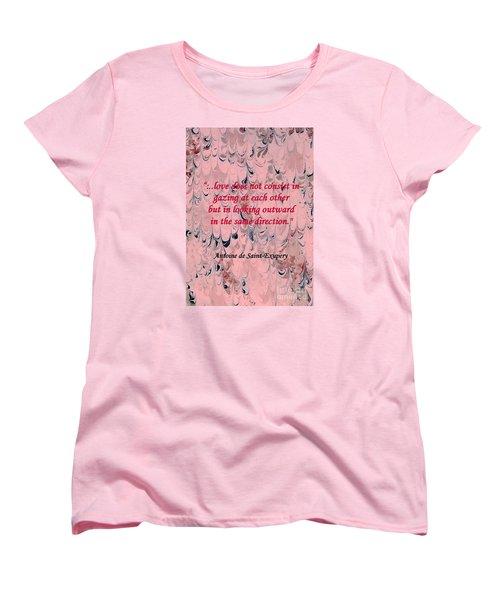Forward Looking Love Women's T-Shirt (Standard Cut) by Barbie Corbett-Newmin