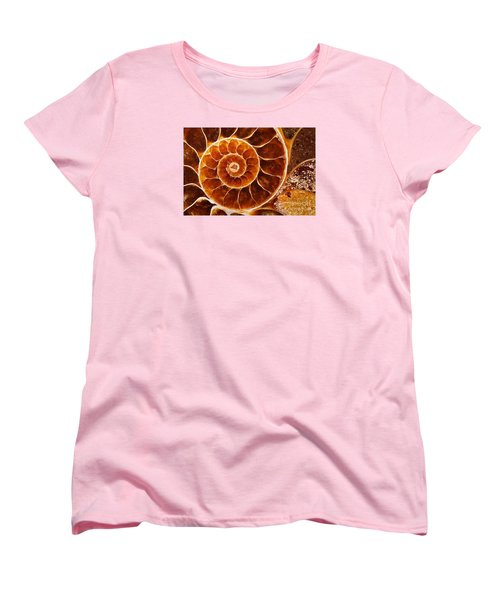 Fossil Nautilus Women's T-Shirt (Standard Cut) by Alice Cahill