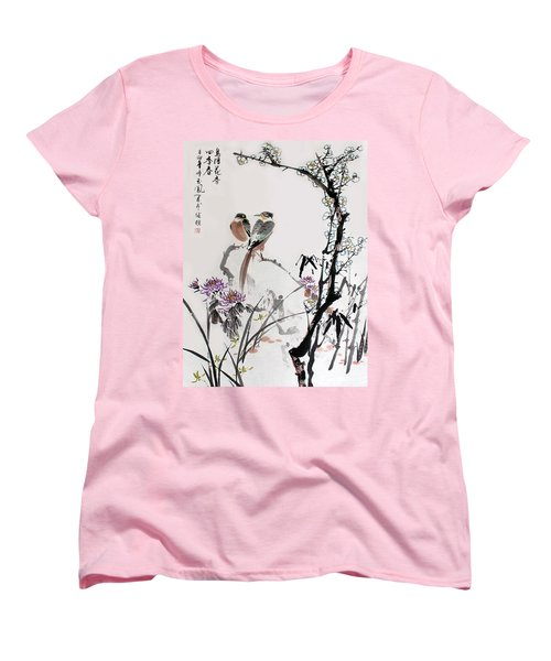 Four Seasons In Harmony Women's T-Shirt (Standard Cut) by Yufeng Wang