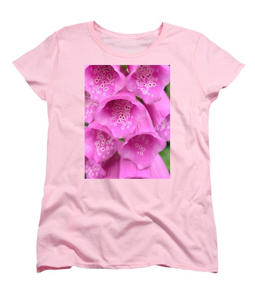 Fox Glove Women's T-Shirt (Standard Cut) by Ron Harpham
