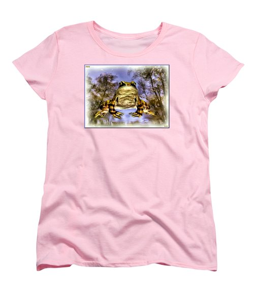Women's T-Shirt (Standard Cut) featuring the digital art Frog by Daniel Janda