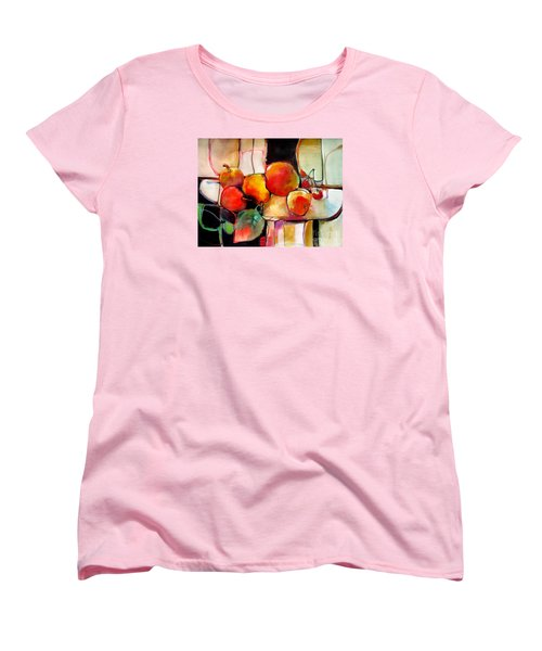 Women's T-Shirt (Standard Cut) featuring the painting Fruit On A Dish by Michelle Abrams