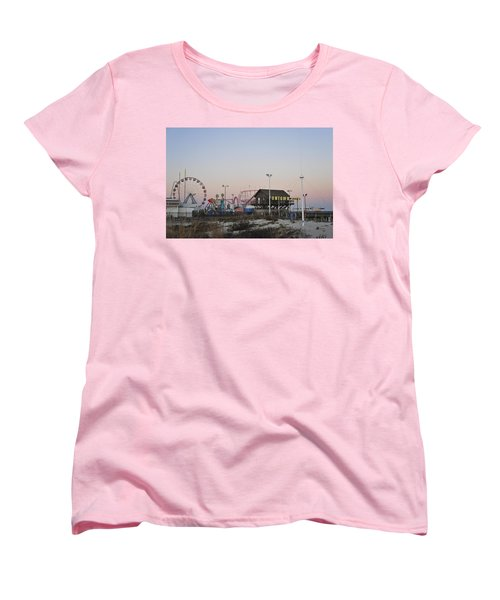 Fun At The Shore Seaside Park New Jersey Women's T-Shirt (Standard Cut) by Terry DeLuco