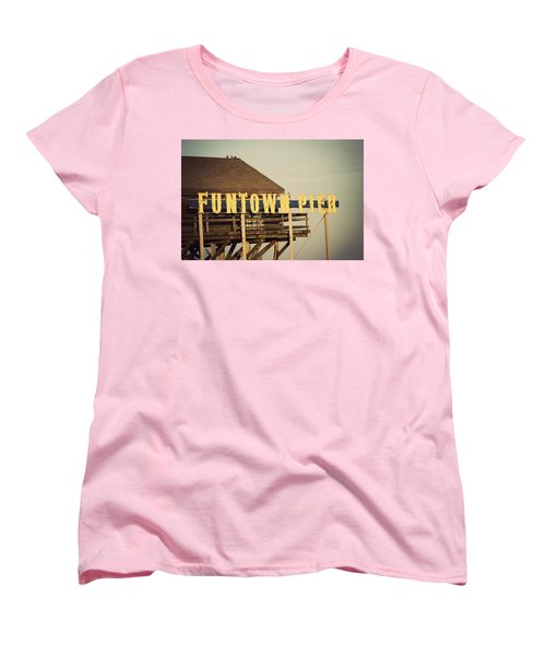 Funtown Vintage Women's T-Shirt (Standard Cut) by Terry DeLuco
