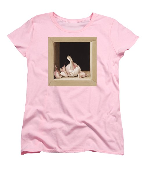 Garlic Women's T-Shirt (Standard Cut) by Jenny Barron