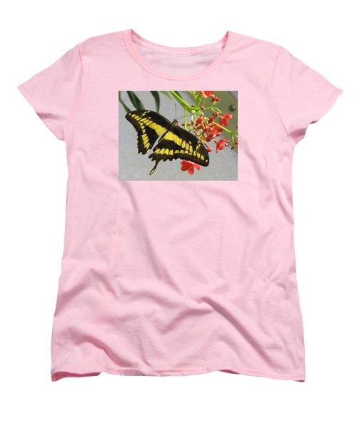 Women's T-Shirt (Standard Cut) featuring the photograph Giant Swallowtail by Jennifer Wheatley Wolf