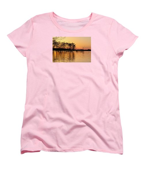 Women's T-Shirt (Standard Cut) featuring the photograph Gilded Sunset by Julie Andel