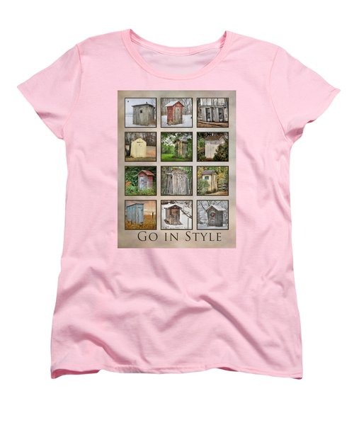 Go In Style - Outhouses Women's T-Shirt (Standard Cut) by Lori Deiter
