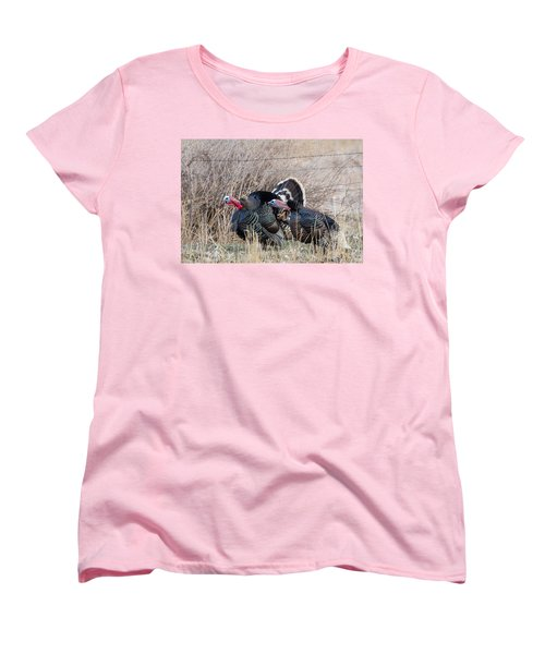 Gobbling Turkeys Women's T-Shirt (Standard Cut)
