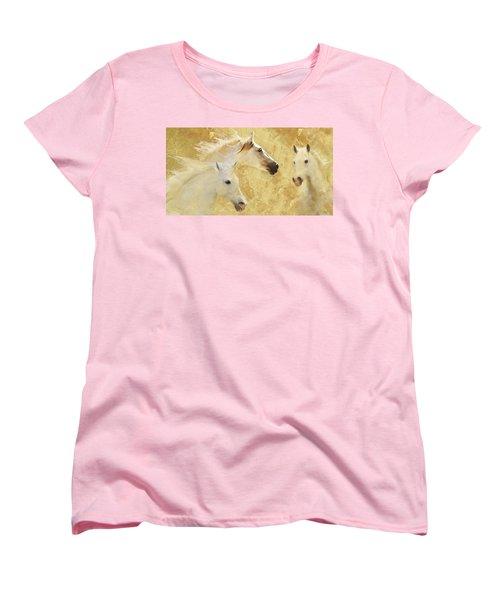Golden Steeds Women's T-Shirt (Standard Cut) by Melinda Hughes-Berland