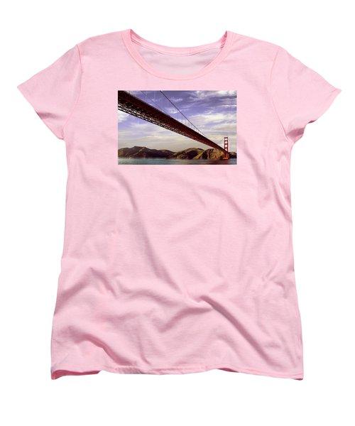 Goldengate Bridge San Francisco Women's T-Shirt (Standard Cut) by Bob and Nadine Johnston