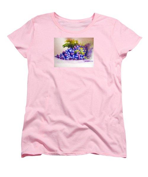 Women's T-Shirt (Standard Cut) featuring the painting Grapes by Chrisann Ellis
