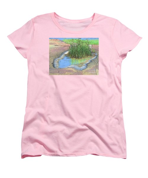 Grass Growing On Rocks Women's T-Shirt (Standard Cut)