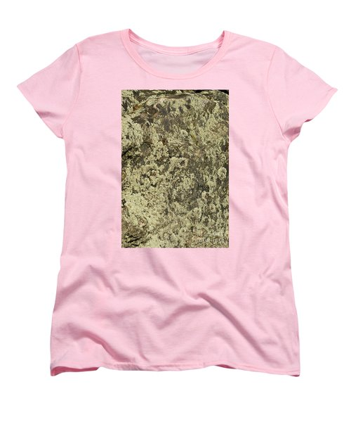Women's T-Shirt (Standard Cut) featuring the photograph Green Moss by Les Palenik