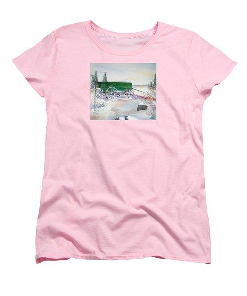 Green Wagon Women's T-Shirt (Standard Cut) by Christine Lathrop