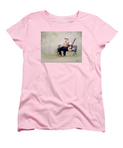 Guitar Man Women's T-Shirt (Standard Cut) by Bonnie Willis
