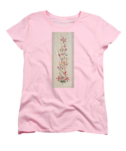 Women's T-Shirt (Standard Cut) featuring the photograph handmade paper from Madagascar 2 by Rudi Prott