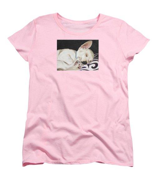 Hanks Sleeping Women's T-Shirt (Standard Cut) by Jeanne Fischer