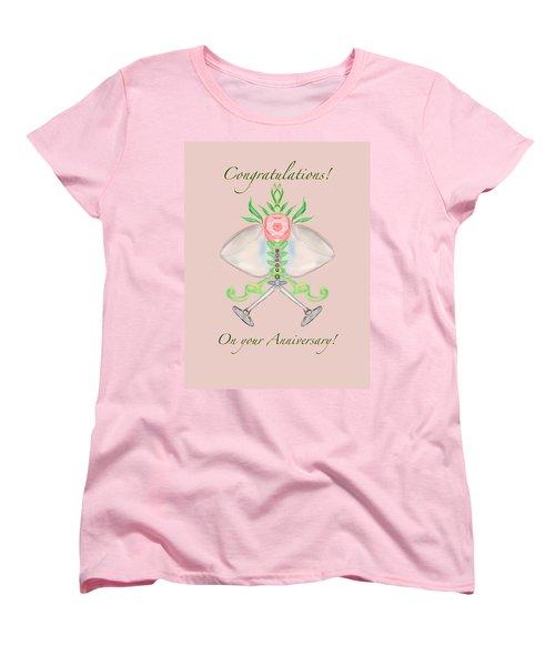 Women's T-Shirt (Standard Cut) featuring the digital art Happy Anniversary 1 by Christine Fournier
