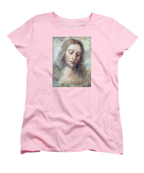 Head Of Christ Restoration Art Work Women's T-Shirt (Standard Cut) by Karon Melillo DeVega