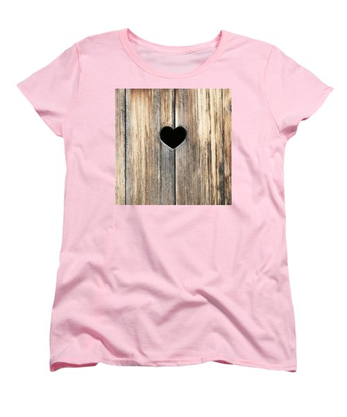 Women's T-Shirt (Standard Cut) featuring the photograph Heart In Wood by Brooke T Ryan