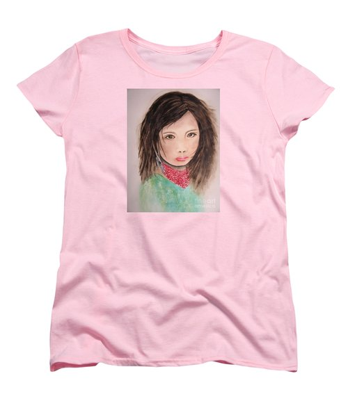 Her Expression Says It All Women's T-Shirt (Standard Cut) by Chrisann Ellis