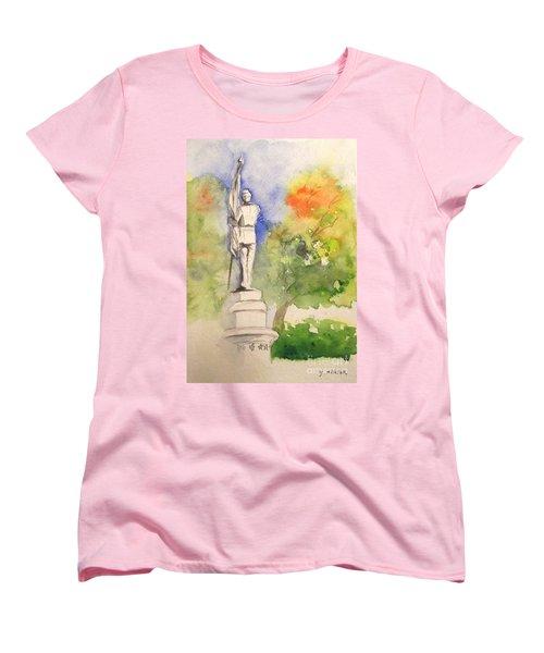 Highland Cemetery-plein Air-ypsilanti Michigan 1 Women's T-Shirt (Standard Cut) by Yoshiko Mishina