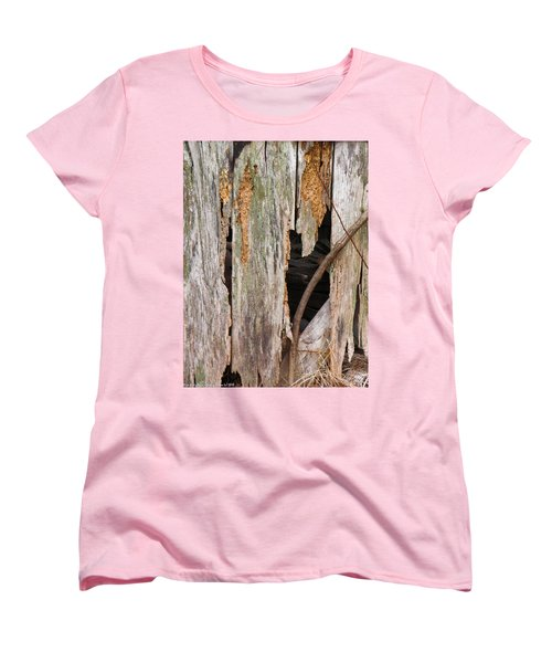 Women's T-Shirt (Standard Cut) featuring the photograph Holey Smokehouse by Nick Kirby