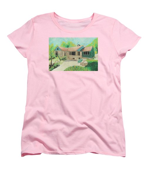 Women's T-Shirt (Standard Cut) featuring the painting Home Sweet Home by Jeanne Fischer