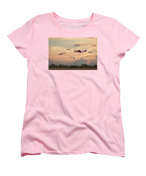 Home To Roost Women's T-Shirt (Standard Cut) by Pat Speirs