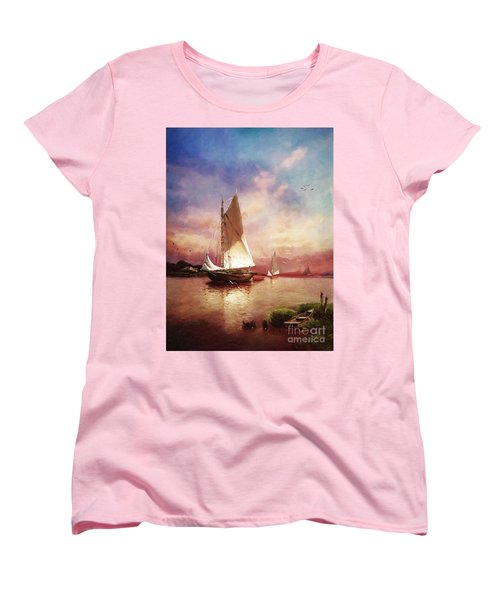 Home To The Harbor Women's T-Shirt (Standard Cut) by Lianne Schneider
