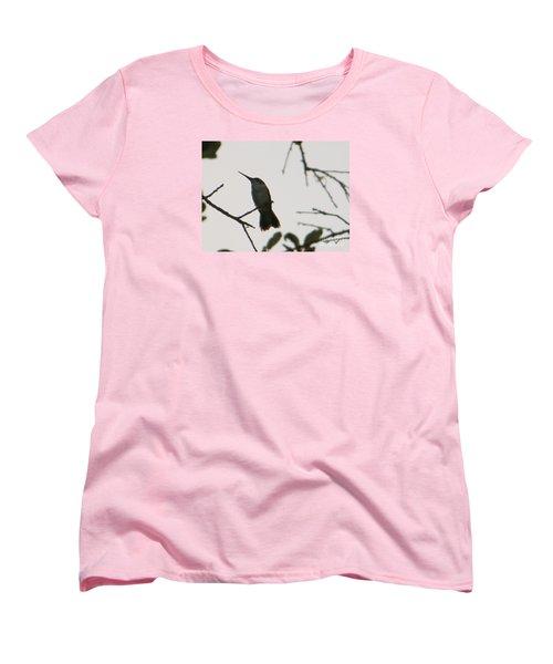 Hummingbird Silhouette 2 Women's T-Shirt (Standard Cut) by Joy Hardee