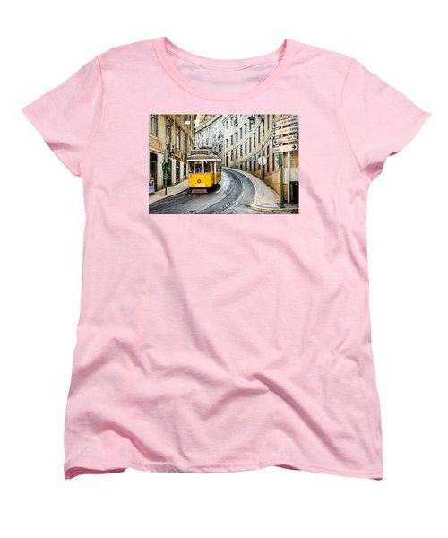 Iconic Lisbon Streetcar No. 28 IIi Women's T-Shirt (Standard Cut) by Marco Oliveira