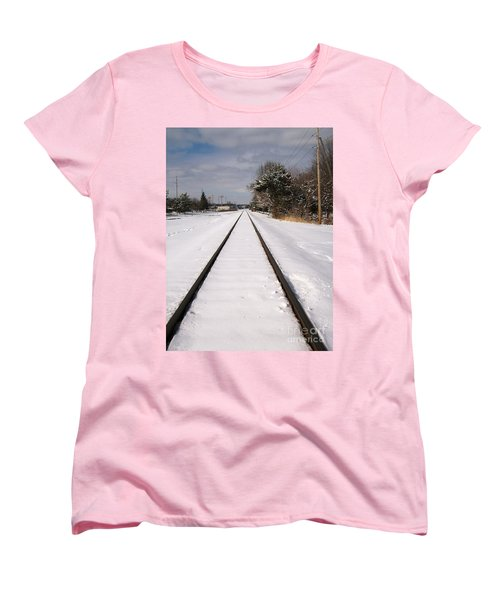 Women's T-Shirt (Standard Cut) featuring the photograph In The Distance by Sara  Raber