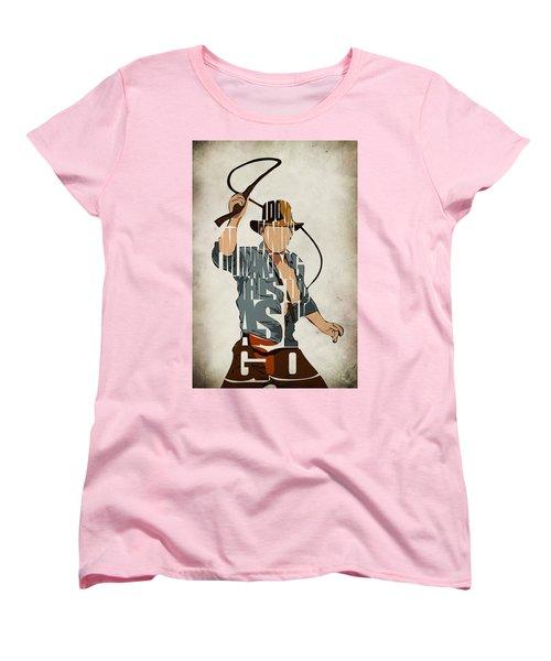Indiana Jones - Harrison Ford Women's T-Shirt (Standard Cut) by Ayse Deniz