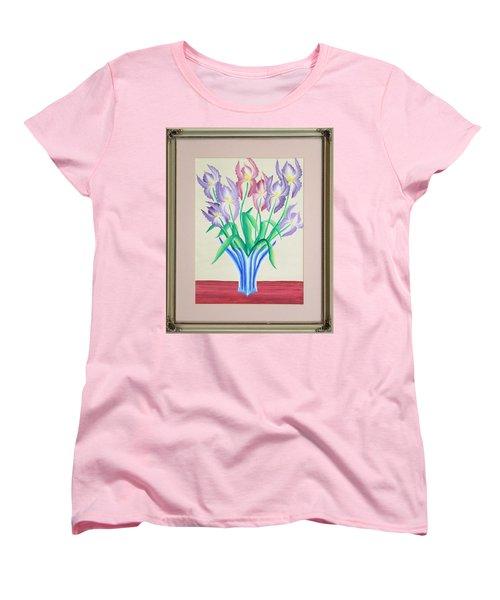 Irises Women's T-Shirt (Standard Cut) by Ron Davidson