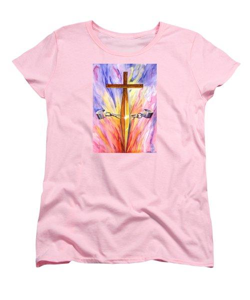 Isaiah Sixty One Verse One Women's T-Shirt (Standard Cut) by Nancy Cupp