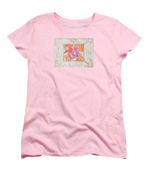 Women's T-Shirt (Standard Cut) featuring the painting Its Going To Be Okay by Cassie Sears