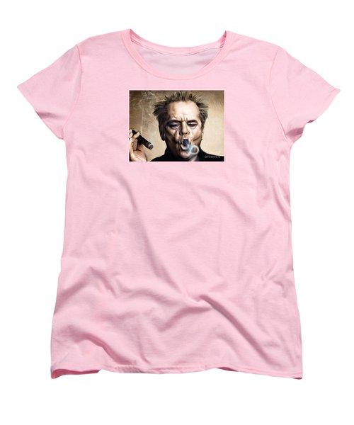 Jack Nicholson Women's T-Shirt (Standard Cut) by Andrzej Szczerski