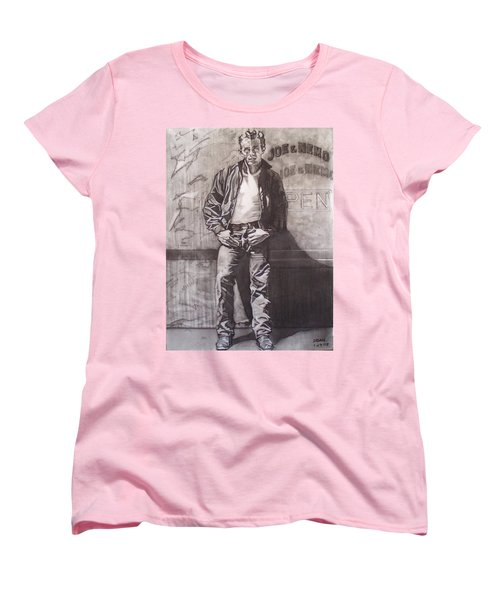 James Dean Women's T-Shirt (Standard Cut) by Sean Connolly
