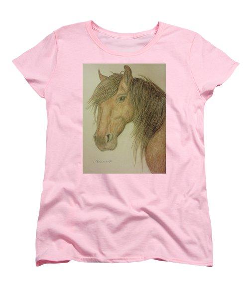 Kathy's Horse Women's T-Shirt (Standard Cut) by Christy Saunders Church